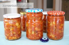 Canned Fried Eggplant Recipe - Turkish Style Cooking Fried Eggplant Recipes, Turkish Delight, Turkish Recipes, What To Cook, Preserves, Cookie Recipes, Salsa, Fries, Canning