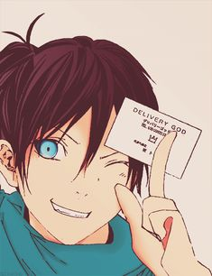Yato gave me one of his cards at AniMinneapolis in May. XD Delivery God Yato - Chapter practicing new ways of coloring Anime Noragami, Yatogami Noragami, Manga Anime, Yato And Hiyori, Anime One, Another Anime, Chibi, Tokyo Ghoul, Otaku