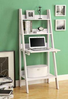 "Computer Desk - 61""H / White Ladder Style"