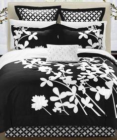 Loving this Black Iris Seven-Piece Comforter Set on #zulily! #zulilyfinds