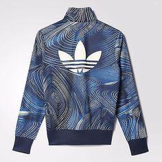 827daa525c8f9 New Adidas 2016/17 Blue Geology Firebird Track Top Jacket for women's BQ1001