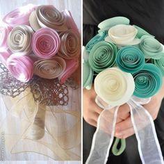 Paper flower buquet