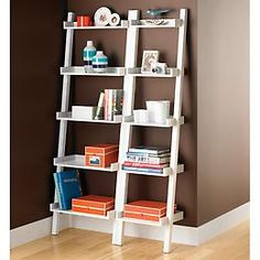 FINALLY found where the bookshelves came from on front of the new 31 Spring Catalog!! The Container Store > Linea Narrow Leaning Bookcase