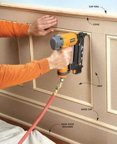 MDF (medium-density fiberboard) is inexpensive, durable, and a good choice for many woodworking and carpentry projects. Learn how to use MDF wood correctly. Carpentry Projects, Home Projects, Woodworking Skills, Woodworking Clamps, Woodworking Techniques, Woodworking Shop, Woodworking Patterns, Woodworking Quotes, Woodworking Equipment