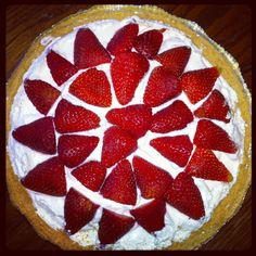 Weight Watchers Cheese Cake. 8 oz light cool whip, 8oz light cream cheese, 2tbs vanilla extract and 1/4 cup sugar. Mix together until smooth and put in pie crust. Refrigerate for a few hours, put strawberries on. Ready to eat!