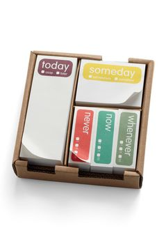 Someday Sticky Note Set from ModCloth. Journal Inspiration, Cute Office Supplies, School Supplies, Gifts Under 10, Secret Santa, Secret Pal, Gifts For Coworkers, White Elephant Gifts, Sticky Notes