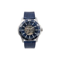 Invicta Men's Specialty Leather Mechanical Skeleton Watch, Blue