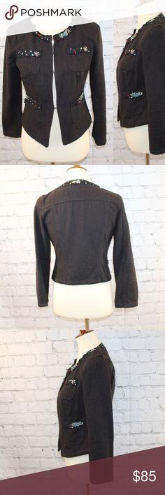 Moschino Jeans black jacket Multicolor beading detail. Moschino Jackets & Coats Blazers