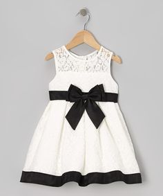 Black & White Bow Dress - Infant | Daily deals for moms, babies and kids