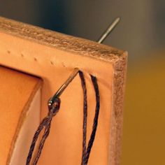 Saddle Stitch Hand stitching