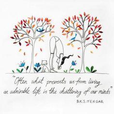 Totally love! #yoga #yogi #quotes #iyengar #namaste #trusttheprocess #energy #mind #gratitude #yogadowndabayou #seek