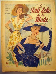 LE Petit Echo DE LA Mode 1951 N° 23 Mini Patron Chapeaux Broderie Tricot   eBay