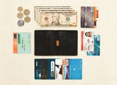 The things which can fit inside the Bellroy Note Sleeve wallet
