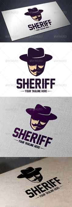 Sheriff Logo Design Template Vector #logotype Download it here: http://graphicriver.net/item/sheriff-logo-template/5640436?s_rank=810?ref=nesto