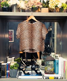 """Neutrals or bights? ""Neutral."" Reason enough for us to wear leopard. http://www.thecoveteur.com/julia-roitfeld/"