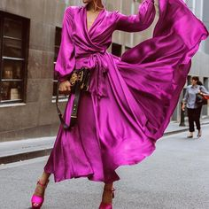 25 Of The Best Winter Fashion Ideas Youll Love Micah Gianneli Looks Chic, Looks Style, Dress Skirt, Dress Up, Pink Dress, Boho Dress, Wrap Dress, Micah Gianneli, High Fashion
