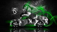 Attirant Ford Mustang GT Fantasy Horse Smoke Car 2014
