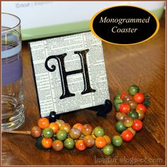 Monogrammed Tile Coaster by Stuff-n-Such By Lisa