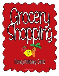 Bring the real world into your classroom with these grocery shopping cards.Set contains:-sign to use at the match center-12 cards with a ...