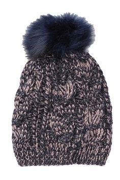 a032b078e6f Knit Faux Fur Pompom Beanie Beanies