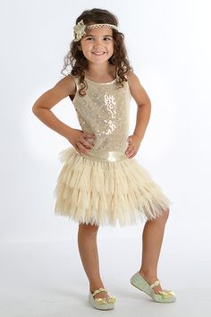 Biscotti Deck the Halls Girls Dress in Silver  Girls Christmas ...