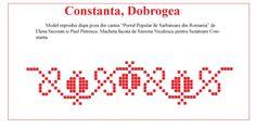 Modele de cusaturi traditionale Romanesti din Dobrogea Stitch 2, Cross Stitch, Folk Embroidery, Traditional, Sewing, Tips, Pattern, Blog, Alphabet