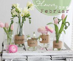 Fräulein Lampe: Wer braucht schon Vasen, wenn man Gläser und Flaschen hat?