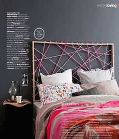 A headboard can make a huge statement in a bedroom. Although, sometimes it's hard to find that perfect headboard to go with your king or queen bed, which is why we came up with this list for you. How To Make Headboard, How To Make Bed, Headboard Designs, Headboard Ideas, Diy Headboards, Diy Furniture, Diy Home Decor, Bedroom Decor, Design Bedroom