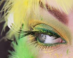 "Sour Shopaholic Soleil Atomic Teal Envy liner from MUGStore mascara Make Up Store ""Punk"" lashes"