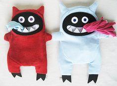 pyjama-eating devil, pyjama bag, kids toy, soft toy on Etsy, $64.00 AUD