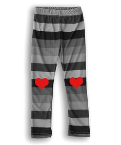 Look at this #zulilyfind! Black & Red Heart Leggings - Infant, Toddler & Kids by Urban Smalls #zulilyfinds