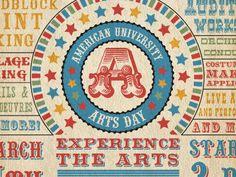 American University Arts Day Postcard Front
