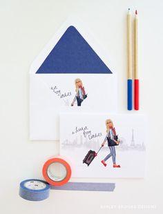 traveling stationery via Ashley Brooke Designs