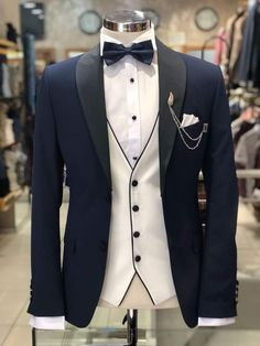 77f2ed398 10 Best Navy tuxedos images in 2018 | Wedding Suits, Navy tuxedos ...