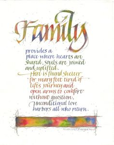 Connie Furgason-Family, calligraphy