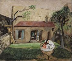 Christopher Wood (1901-1930) The Artist's Cottage, Paris 1930 (53,5 by 65,6 cm)