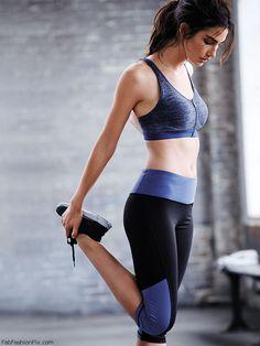 Lily Aldridge shows her athletic physique for Victoria's Secret VSX collection