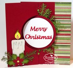 2014 Christmas Candle Circle Spiral Pull Card using the Spiral Circle Pull Card (916) $29.95