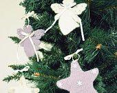 Addobbi natalizi in lana cotta #Christmas #diy #handmade #craft #star #Angel #wool