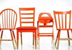 Bright dining chairs.