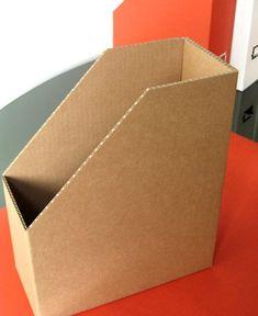Cardboard magazine holder
