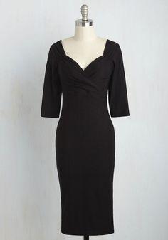 Love Ballad Beauty Sheath Dress in Noir
