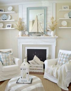 52 Beautiful Coastal Living Room Decor Ideas Improve Your Home, Interior decoration can work wonders for any space. Good decor can hide a large number of sins. Whether you are searching for home decor to present yo. Beach Cottage Style, Cottage Style Homes, Beach Cottage Decor, Coastal Cottage, Coastal Homes, Coastal Decor, Coastal Style, Coastal Farmhouse, Cottage Porch