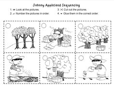 Geeky image in johnny appleseed printable story