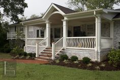 Click through to the blog post to see the before and after on this new front porch project.