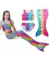 a021550abafd6 Amazon.com: Newland Girl's 3pcs Mermaid Sea-Maid Tankini Marmaid Swimwear  Bikini: Swimming Costumes For ...