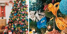 Árvore de Natal com fitas do Bonfim!
