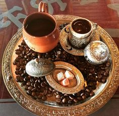 Turkish Coffee Set by www.grandbazaarshopping.com Christmas Gift Ideas