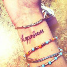 happiness tattoo :)