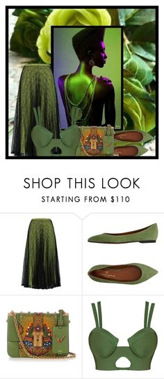 """spring greens"" by art-gives-me-life ❤ liked on Polyvore featuring Raoul, V Italia, Valentino, contestentry and ArtandFashion"